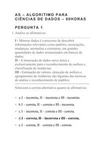 AS ALGORITIMO PARA CIÊNCIAS DE DADOS 80HORAS