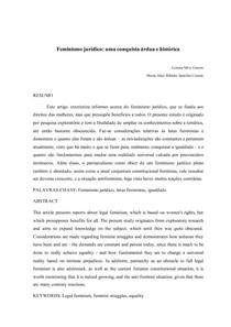 ARTIGO | Feminismo jurídico: uma conquista árdua e histórica