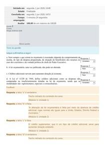 Introdução Orçamento Publico - MODULO 5 exercício fixação 2020.1