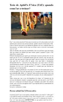 Teste de Aptidão Física (TAF): quando começar a treinar?