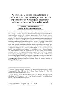vida e obra de Mendel PDF