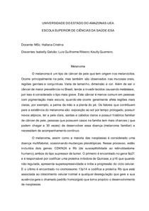 Melanoma Resumo Genética Humana