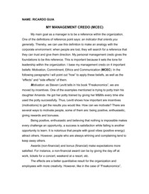 Management Credo