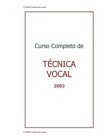 CURSO  - COMPLETO DE  TÉCNICA DE CANTO   -  pdf