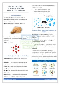 Biologia Molecular 02 - Sais minerais e Íons - Resumo