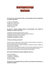 Questões de Diagnóstico por Imagem com Gabarito
