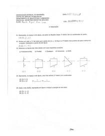 Geometria Descritiva - 1ª Avaliação