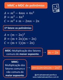 MMC e MDC de polinômios