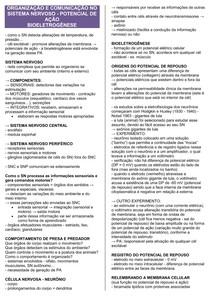 POTENCIAL DE AÇÃO - BIOELETROGÊNESE