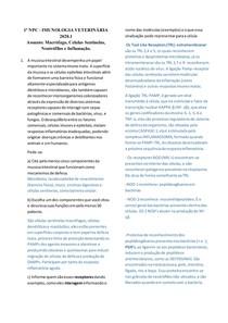 1 avaliação - imunologia veterinária inflamação macrófago sentinela neutrófilos