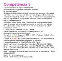 Competência 3 da redação do ENEM