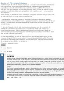 APOL 2 ANALISE ECONOMICA E ADMINISTRAÇAO ESTRATEGICA