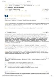 AV. HISTÓRIA DO POVOS INDÍGENAS E AFRO-DESCENDENTES