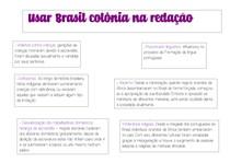 COMO USAR BRASIL COLÔNIA NA REDAÇÃO