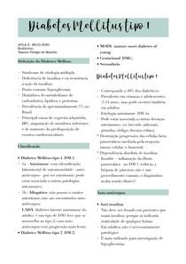 Aula - Diabetes Mellitus tipo 1 (endócrino)