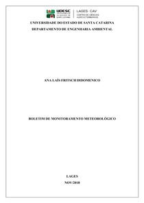 Boletim meteorológico semanal - atividade UDESC - Meteorologia e Climatologia - análise do tempo