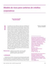 2007   Risco em carteiras de credito coorporativas