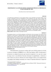 FISIOTERAPIA NA SAÚDE DO IDOSO EXERCÍCIOS FÍSICOS NA PROMOÇÃO