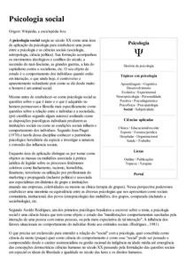 Psicologia social – Wikipédia  a enciclopédia livre