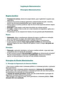 Princípios Administrativos - Resumo