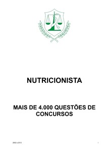 Questões de Concurso   Nutrição