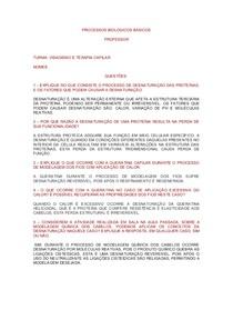 ATIVIDADE   PROCESSOS BIOLÓGICOS BÁSICOS 14.11.2017