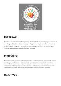 Neurociência Cognitiva e Aprendizagem