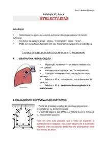 Resumo Radiologia Atelectasias