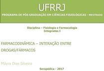 SEMINÁRIO IV - MECANISMOS DE INTERAÇÃO ENTRE FARMACOS