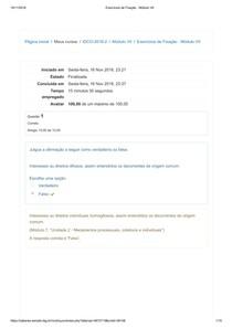 Exercícios de Fixação   Módulo VII   Introdução ao Direito do Consumidor