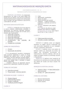 MATERIAIS ADESIVOS DE INSERÇÃO DIRETA