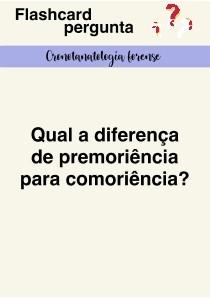 Flashcards Cronotanatologia