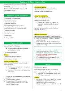 Regulação de Cálcio no sangue