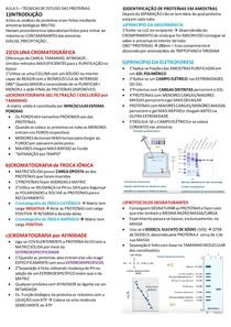 Resumo método de estudos das proteínas