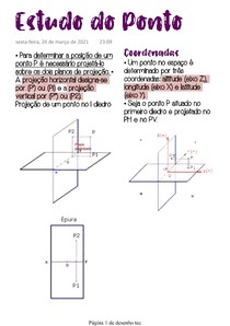 Estudo do Ponto 1 - Geom Descritiva (parte 3)