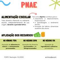 APLICAÇÃO DE RECURSOS - PNAE