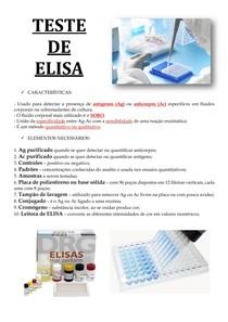 TESTE DE ELISA - CARACTERÍSTICAS E ELEMENTOS