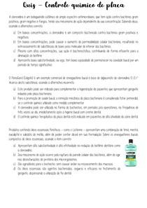 quiz - controle quimico de placa