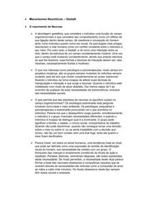 Mecanismos Neuróticos - Gestalt Terapia
