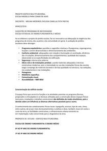 PROJETO EDIFÍCIO MULTIFUNCIONAL plano necessidades