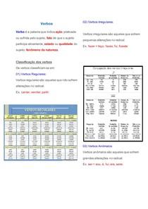 Verbos MATERIA E ATIVIDADES