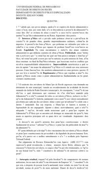 Direito administrativo - prova