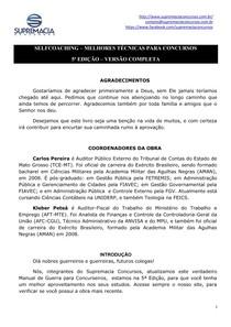 SELFCOACHING 5ª EDICAO   SUPREMACIA CONCURSOS