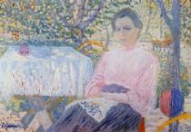 Retrato de uma mulher rosa-Kasimir Malevich