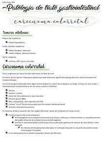 Patologia do trato gastrointestinal - carcinoma colorretal