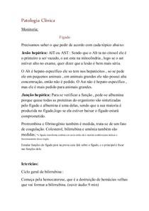 Patologia Clínica -monitoria p1 UFRRJ