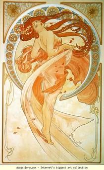 Alphonse Mucha - Dançar. Da Série A Artes