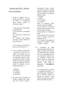 TD DE QUIMICA UECE - PROF VICTOR BRAINER