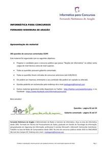 (285 questões da CESPE de Informática - comentadas)