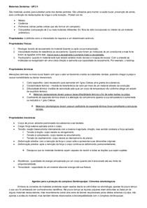 MATERIAIS DENTÁRIOS   RESUMO COMPLETO AULAS